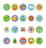 Business and Office Colored Vector Icons 4 Royalty Free Stock Images