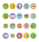 Business and Office Colored Vector Icons 9 Stock Photo