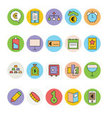 Business and Office Colored Vector Icons 14 Royalty Free Stock Photos