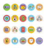 Business and Office Colored Vector Icons 7. Get for your next business and financial designs! Here is a pack of Business and Finance Vector Icons. Express your Royalty Free Stock Photography