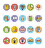 Business and Office Colored Vector Icons 5 Stock Photos