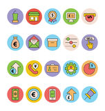 Business and Office Colored Vector Icons 15 Royalty Free Stock Photos