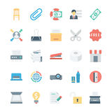 Business and Office Colored Vector Icons 7 Stock Photography