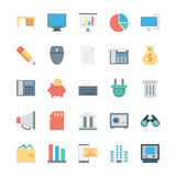 Business and Office Colored Vector Icons 2 Stock Image