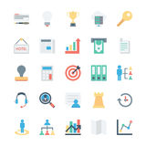 Business and Office Colored Vector Icons 3 Royalty Free Stock Photos