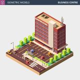 Business Office or Commercial Building - Vector Isometric Illustration. stock photos