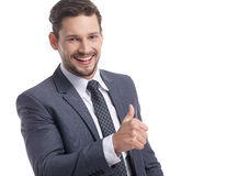 Business and office concept -  businessman in suit Stock Photos