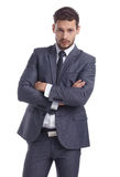 Business and office concept -  businessman in suit Royalty Free Stock Photos