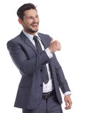 Business and office concept -  businessman in suit Stock Images