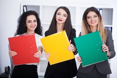 Business and office concept - happy business team in office Royalty Free Stock Photography
