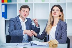 Business and office concept, happy business team in office Stock Photos