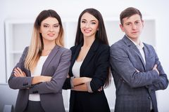 Business and office concept - happy business team in office Stock Photography