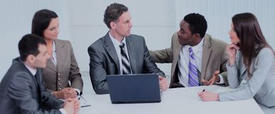 Business people. Business team working on their business project Royalty Free Stock Photography