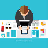 Business and Office Conceptual Vector Design Royalty Free Stock Photography