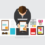 Business and Office Conceptual Vector Design Stock Image