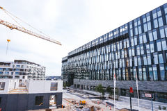 Business office. Construction of new buildings. Glass architecture Royalty Free Stock Photography