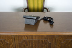 Business Office Desk and Chair Telephone Royalty Free Stock Photography