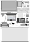 Business office electronics Royalty Free Stock Image