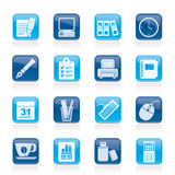 Business and office equipment icons Royalty Free Stock Photos