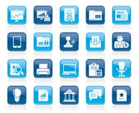 Business and office equipment icons. Vector icon set 2 Stock Photography