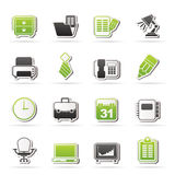 Business and office equipment icons Stock Photos