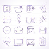 Business and office equipment icons Royalty Free Stock Photo