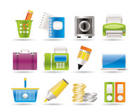 Business, Office and Finance Icons vector illustration
