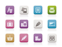 Business, Office and Finance Icons Royalty Free Stock Photography