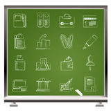 Business, Office and Finance Icons Stock Images