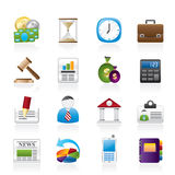 Business, Office and Finance Icons Stock Photo