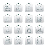 Business, Office and Finance Icons Stock Photography