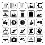 Business, Office & Finance icons set. Business, Office & Finance 25 icons set Royalty Free Stock Photos