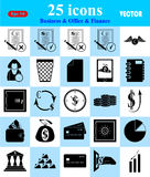 Business, Office & Finance icons set. Business, Office & Finance 25 icons set Royalty Free Stock Photography