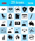 Business, Office & Finance icons set. Business, Office & Finance 25 icons set Stock Photography