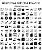 Business, Office & Finance icons set. Business, Office & Finance 100 icons set Stock Photos