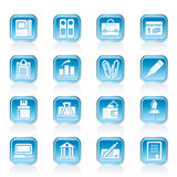 Business, Office and Finance Icons Royalty Free Stock Images