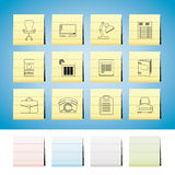 Business, office and firm icons - vector icon set stock illustration