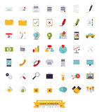 Business and Office Flat design icon set Royalty Free Stock Images