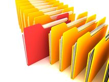 Business office folders info search Royalty Free Stock Images