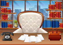 Business office fully furnished. Illustration Stock Image