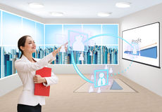 Business office of the future Stock Photography