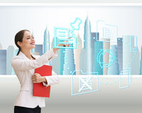Business office of the future royalty free illustration