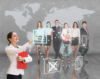 Business office of the future Royalty Free Stock Photography