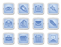 Business and office icon set. Illustration of a set of business and office icons