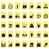 Business and office icon set Stock Image