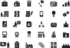 Business and office icon set Stock Images