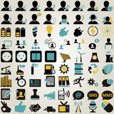 Business and office icon set Royalty Free Stock Images