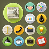 Business and office, icon set Stock Images