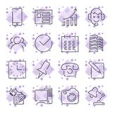 Business and office icon set. Universal icons for programs,. Applications, sites and other. Editable stroke. The perfect  for your needs Royalty Free Stock Images
