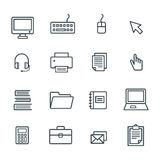 Business Office Icon Set . Vector Royalty Free Stock Photography